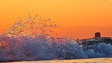 Le onde al tramonto    sono opere d'arte