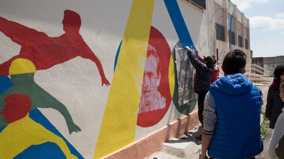 Come nasce un murale: l'arte per Mennea a Castellaneta