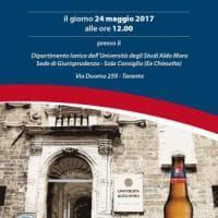 Taranto, sulle bottiglie di birra il logo dell'Ateneo: