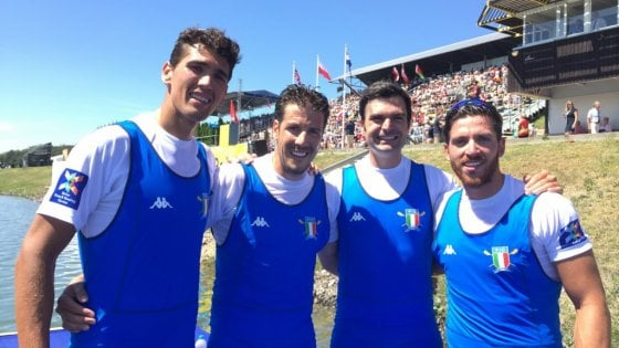 Canottaggio, il barese Montrone sul podio con l'oro agli Europei nel quattro senza senior