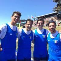 Canottaggio, il barese Montrone sul podio con l'oro agli Europei nel quattro