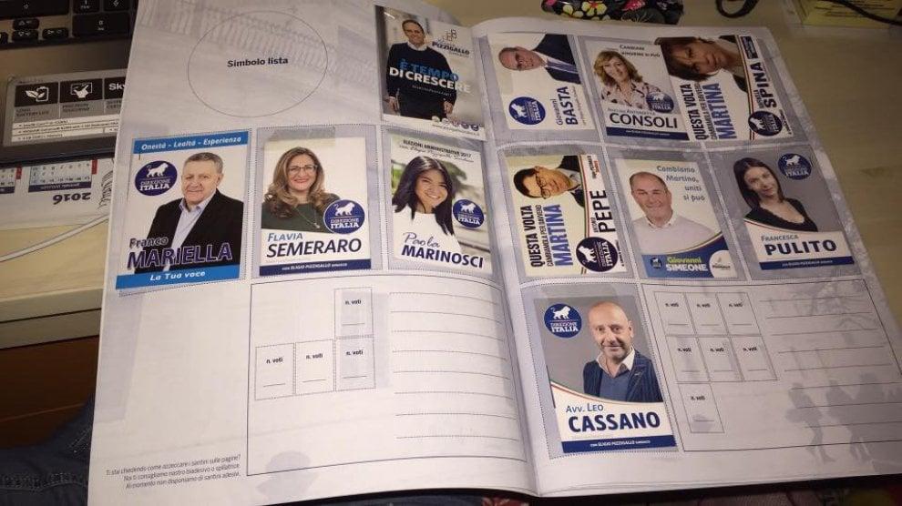 Martina Franca, l'album per collezionare santini elettorali