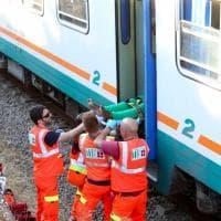 Salento, lo scontro frontale fra treni delle Sud Est