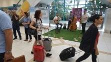 Jazz dal vivo per salutare i turisti in aeroporto
