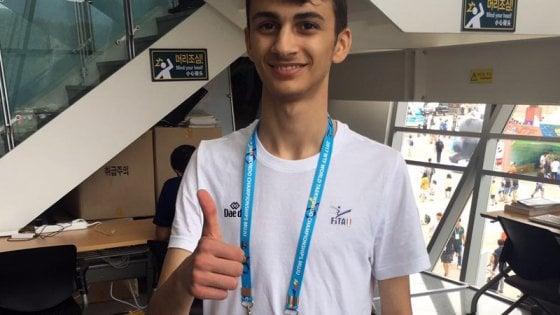 Taekwondo, il 17enne brindisino Dell'Aquila medaglia di bronzo ai Mondiali in Corea