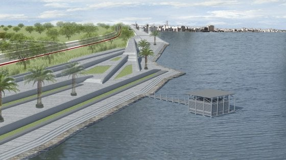 Bari, piscine e palafitte per rimodernare il lungomare sud: ecco il modello di Confindustria