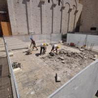 Bari, lo scavo archeologico attorno alla Basilica