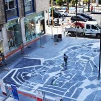 Bari, svelato il mosaico di via Sparano: la mappa è un gioco per scoprire