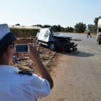 Bari, due morti e un ferito nello scontro Focus-autocisterna sulla Mola-Noicattaro