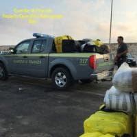Salento, sul gommone dall'Albania con 630 chili di marijuana: arrestati