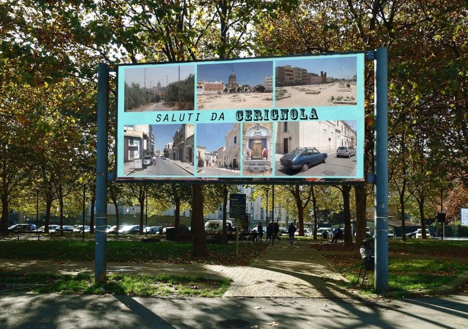 'Saluti da Cerignola': il manifesto è un'opera d'arte