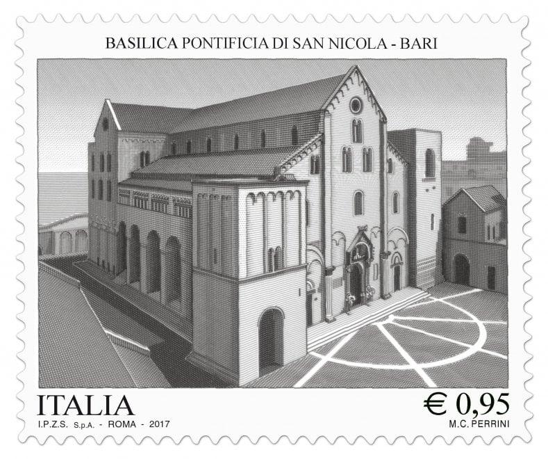 Bari, ecco il francobollo con la basilica di San Nicola