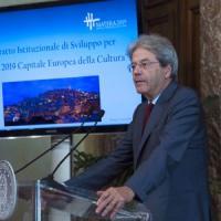 Matera 2019, il governo stanzia 400 milioni. Gentiloni: