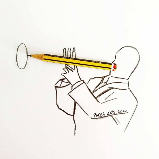 La matita è un pezzo d'arte, i ritratti pop di Lomuscio