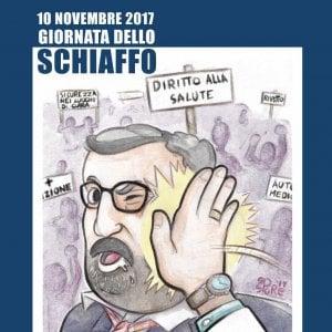 Schiaffo a Michele Emiliano sulla locandina dei fittiani: il caso finisce in parlamento