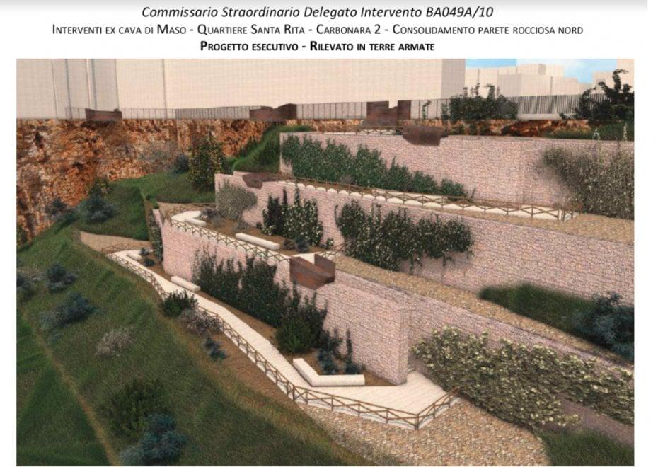 Bari, un giardino a terrazze nella cava Di Maso distrutta dall'alluvione