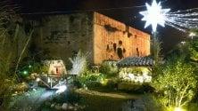 Il presepe di Lecce  attorno al castello