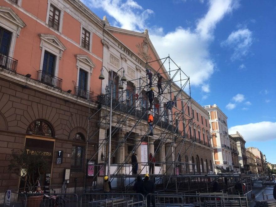 Capodanno a Bari, ecco il palco per Marco Mengoni