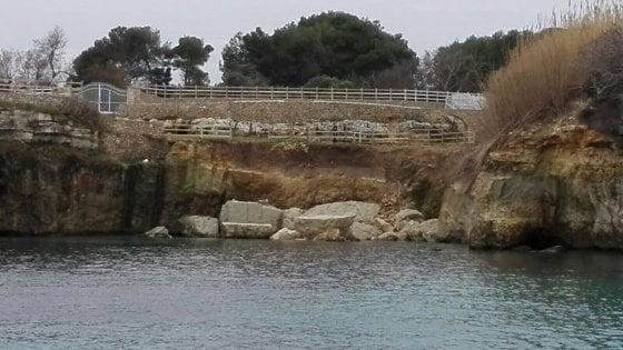 """Otranto, inchiesta sul crollo della falesia vicino al Twiga: """"Causata da un accesso abusivo al mare"""""""