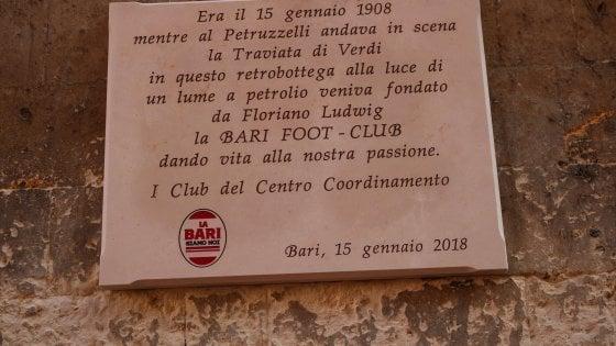 Bari-Peroni, maglia speciale per i 110 anni del club