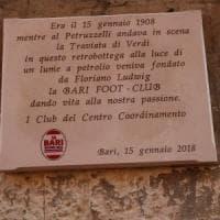 Bari calcio, un refuso nella targa per celebrare i 110 anni della squadra: verrà sostituita