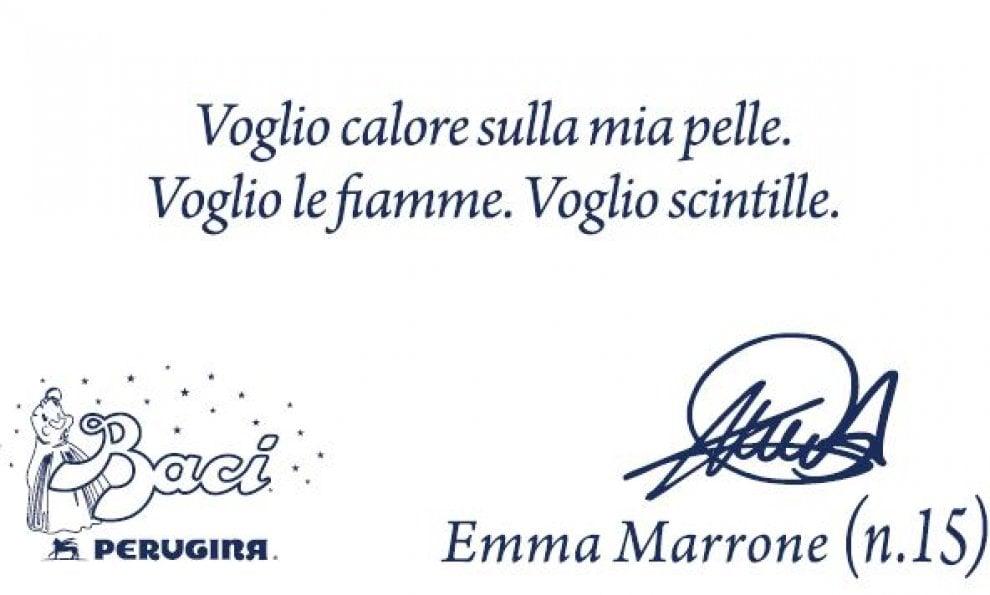 San Valentino, le frasi di Emma sui Baci Perugina