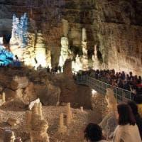 Il presidente Mattarella visita le Grotte di Castellana a ottant'anni dalla loro scoperta