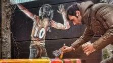 Il restyling del Palasassi  fatto a colpi di graffiti
