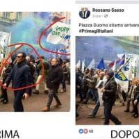"""Lega, il fotoritocco del candidato pugliese: cancellato """"Prima il Nord"""""""