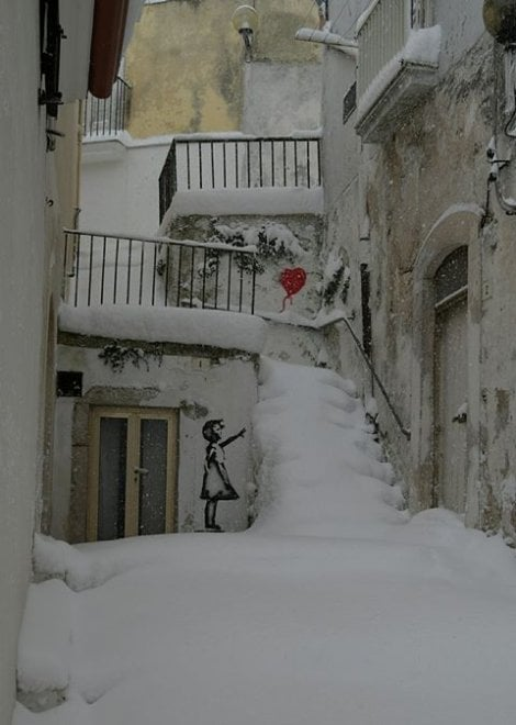 Neve sul Gargano, Monte Sant'Angelo è imbiancata