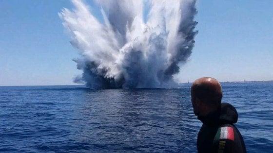 Brindisi, rimosse dal porto 213 bombe inesplose della Seconda guerra mondiale
