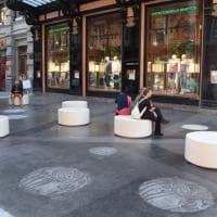 Bari, svelato il salotto Liberty di via Sparano: la panchine sono circolari