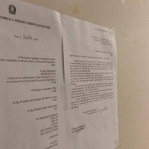 """""""Palagiustizia di Bari a rischio sgombero"""", l'annuncio del procuratore è in bacheca"""