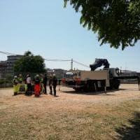 Bari, cominciati i lavori per montare le tende dopo il trasloco del Palagiustizia
