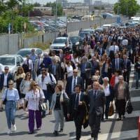 Bari, la marcia silenziosa di pm e avvocati contro i processi nella tendopoli