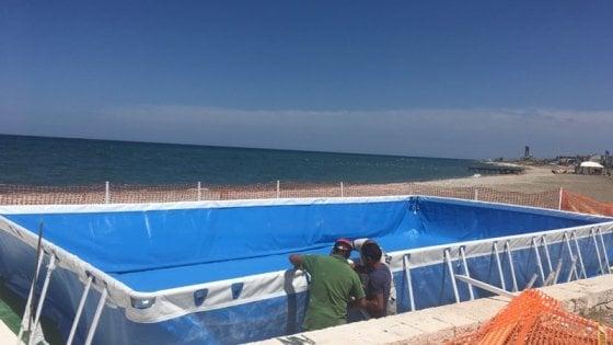 Bari, ecco la piscina vista mare di Torre Quetta: sarà pronta il 18 giugno