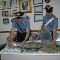 Bari, bazar della droga allestito in uno scantinato: 20enne arrestato con due chili di sostanze