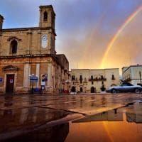 Salento, dopo il maltempo appare il doppio arcobaleno