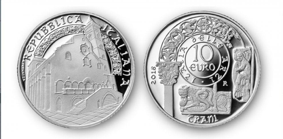 La Cattedrale di Trani sulla moneta d'argento emessa dalla Zecca