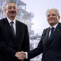 """Gasdotto Tap, Mattarella rassicura l'Azerbaijan: """"Si farà nei tempi previsti"""""""
