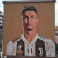 Cristiano Ronaldo è un murale: la dedica di Grottaglie a CR7