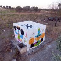Taranto, i colori di Geometric bang tra gli ulivi