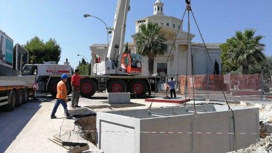 Bari, lavori in corso nel sottopasso di Santa Fara: così la nuova chiusura al traffico