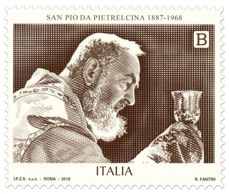 Padre Pio, un francobollo per i cinquant'anni dalla morte