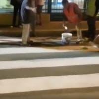 Gravina, attivisti M5S disegnano le strisce pedonali. Il sindaco:
