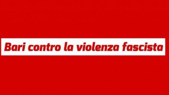 """Bari in piazza contro il fascismo, la risposta al raid di CasaPound: """"Mobilitazione straordinaria"""""""