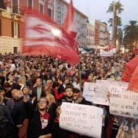 In tremila alla manifestazione antifascista dopo l'aggressione. Canfora: