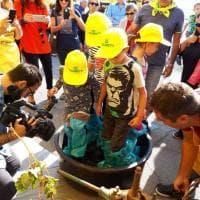 Lecce, i baby vignaioli in piazza con Coldiretti