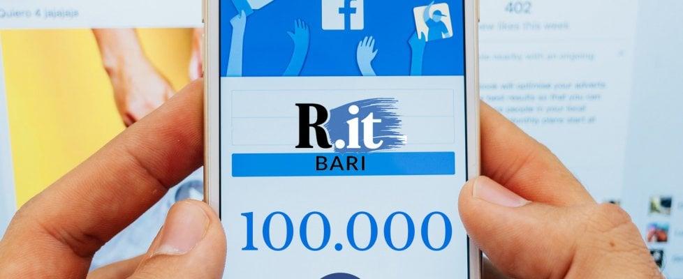 Repubblica Bari supera i 100mila like su Facebook: così il nostro sito è leader sui social