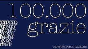 Repubblica Bari supera i 100mila like  così il nostro sito è leader su Facebook